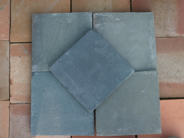Blauwe tegels